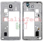 CORNICE CENTRALE per Samsung Galaxy NOTE 4 n910f middle plate FRAME BIANCO TELAIO