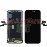 DISPLAY TOUCHSCREEN LCD OLED COMPLETO per iPhone X NERO vetro touch schermo vetrino TOP AAA+