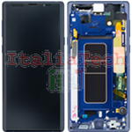 DISPLAY LCD ORIGINALE Samsung N960F Galaxy Note 9 BLU vetrino touch vetro schermo