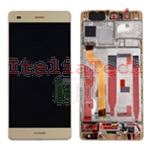 LCD DISPLAY + TOUCH COMPLETO + FRAME PER HUAWEI P9 GOLD oro touchscreen vetro