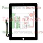 VETRINO TOUCHSCREEN per Apple iPad 4 vetro touch screen iPad4 Retina 4G nero