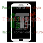 VETRINO touchscreen per Samsung N7100 vetro touch screen bianco Samsung Note 2