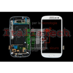 DISPLAY LCD COMPLETO FLAT PER SAMSUNG GALAXY S3 I9300 BIANCO HQ