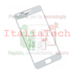 VETRINO per touchscreen Samsung i9100 vetro touch screen BIANCO Galaxy S2