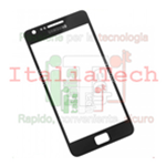 VETRINO per touchscreen Samsung i9100 vetro touch screen NERO Galaxy S2