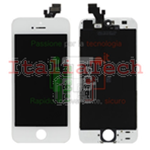 TOUCH SCREEN + LCD DISPLAY RETINA + FRAME PER APPLE IPHONE 5 VETRO SCHERMO BIANCO TOP AAA+