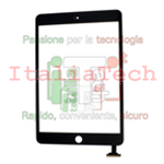 VETRINO touchscreen per iPad Mini NERO vetro touch screen schermo esterno