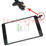 VETRINO touchscreen ASSEMBLATO per iPad Mini nero vetro touch screen tasto home IC chip