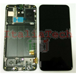 DISPLAY LCD ORIGINALE Samsung A405 Galaxy A40 NERO vetrino touch vetro schermo