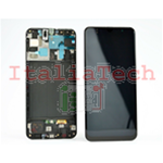 DISPLAY LCD ORIGINALE Samsung A505 Galaxy A50 NERO vetrino touch vetro schermo