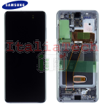 DISPLAY LCD ORIGINALE Samsung G980F Galaxy S20 GREY vetrino touch vetro schermo